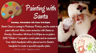 Painting with Santa-